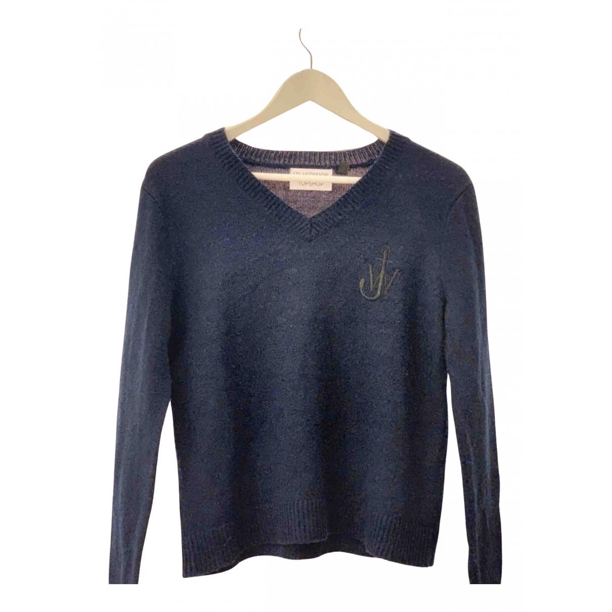 Topshop X J.w. Anderson - Pull   pour femme en laine - marine