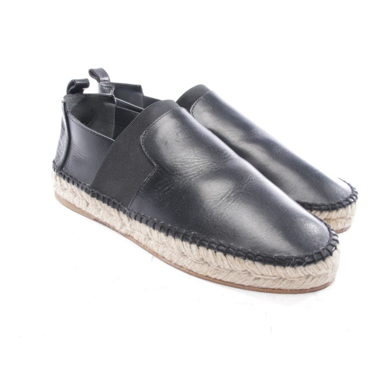 Balenciaga - Espadrilles   pour homme en cuir - noir