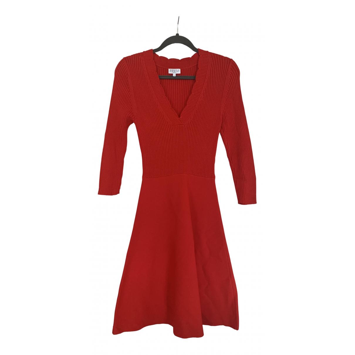 Claudie Pierlot N Red Cotton - elasthane dress for Women 2 0-5