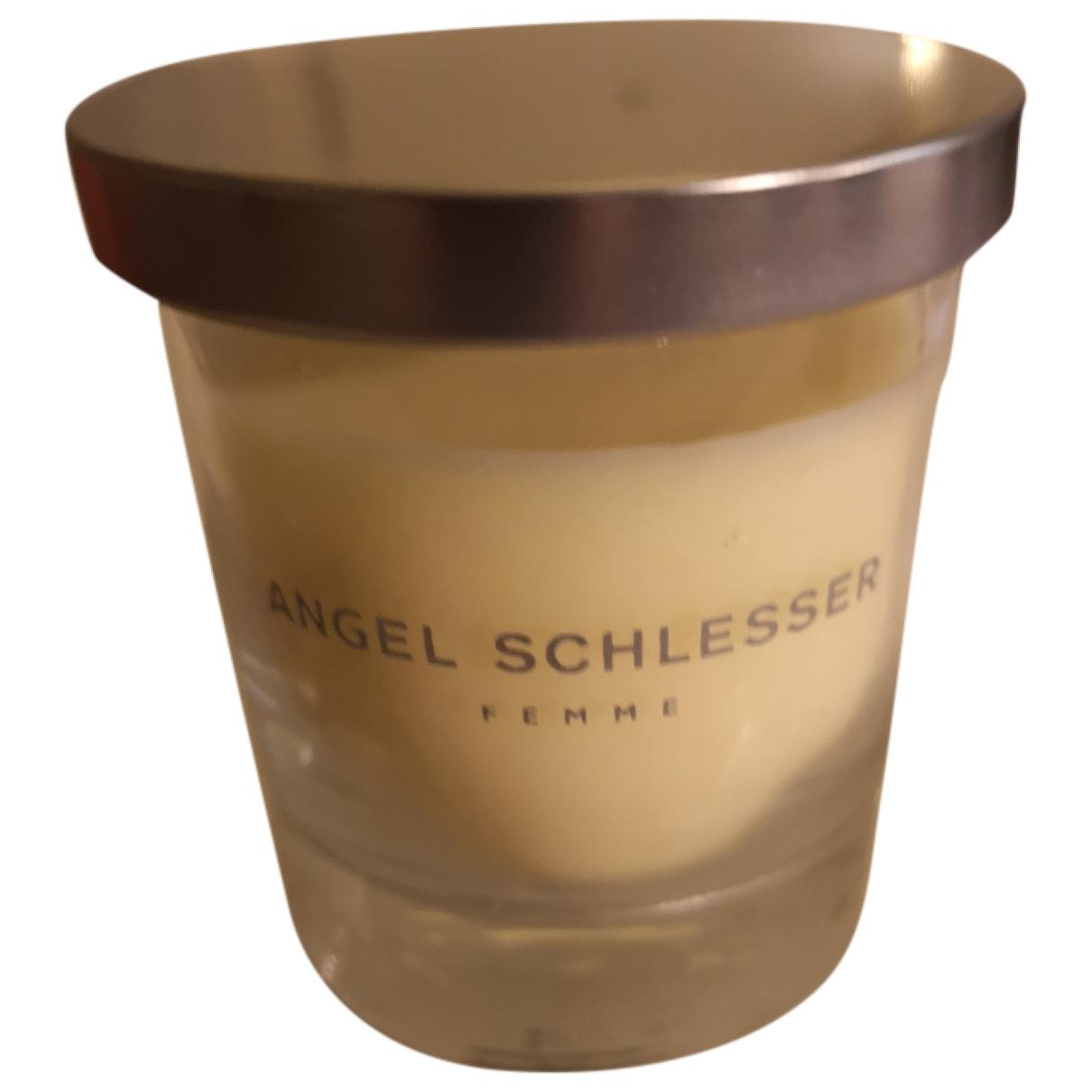 Angel Schlesser \N Accessoires und Dekoration in  Gelb Glas