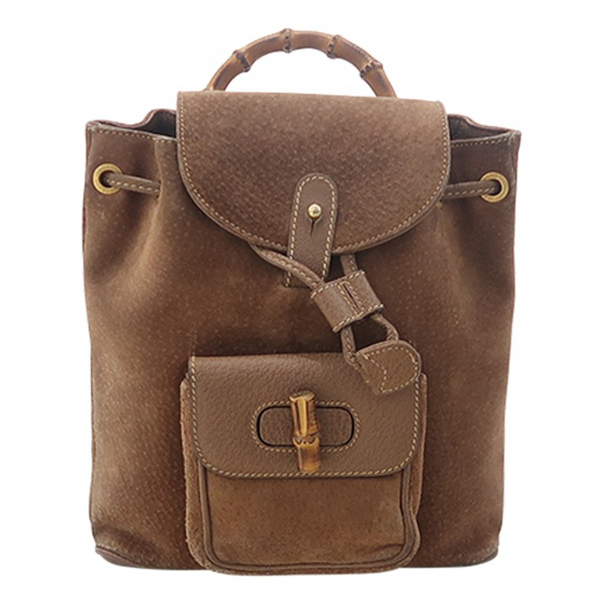 Gucci Bamboo Multicolour Suede backpack for Women N