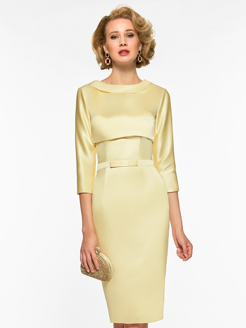 Ericdress Sheath Sleeves Knee Length Mother of The Bride Dress