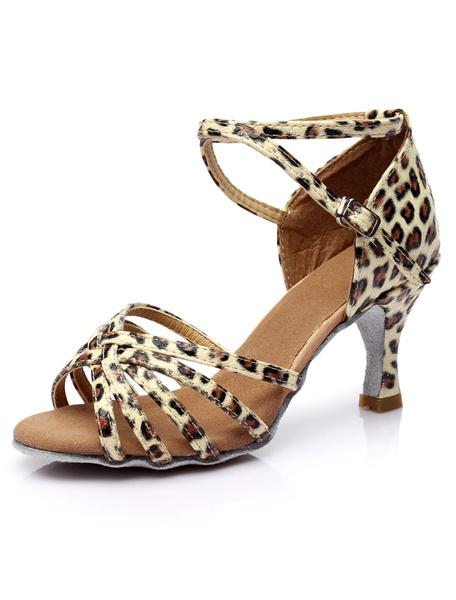 Milanoo Zapatos De Fiesta Tiras Cruzadas Zapatos Baile Latino Satinadosados Para Mujeres