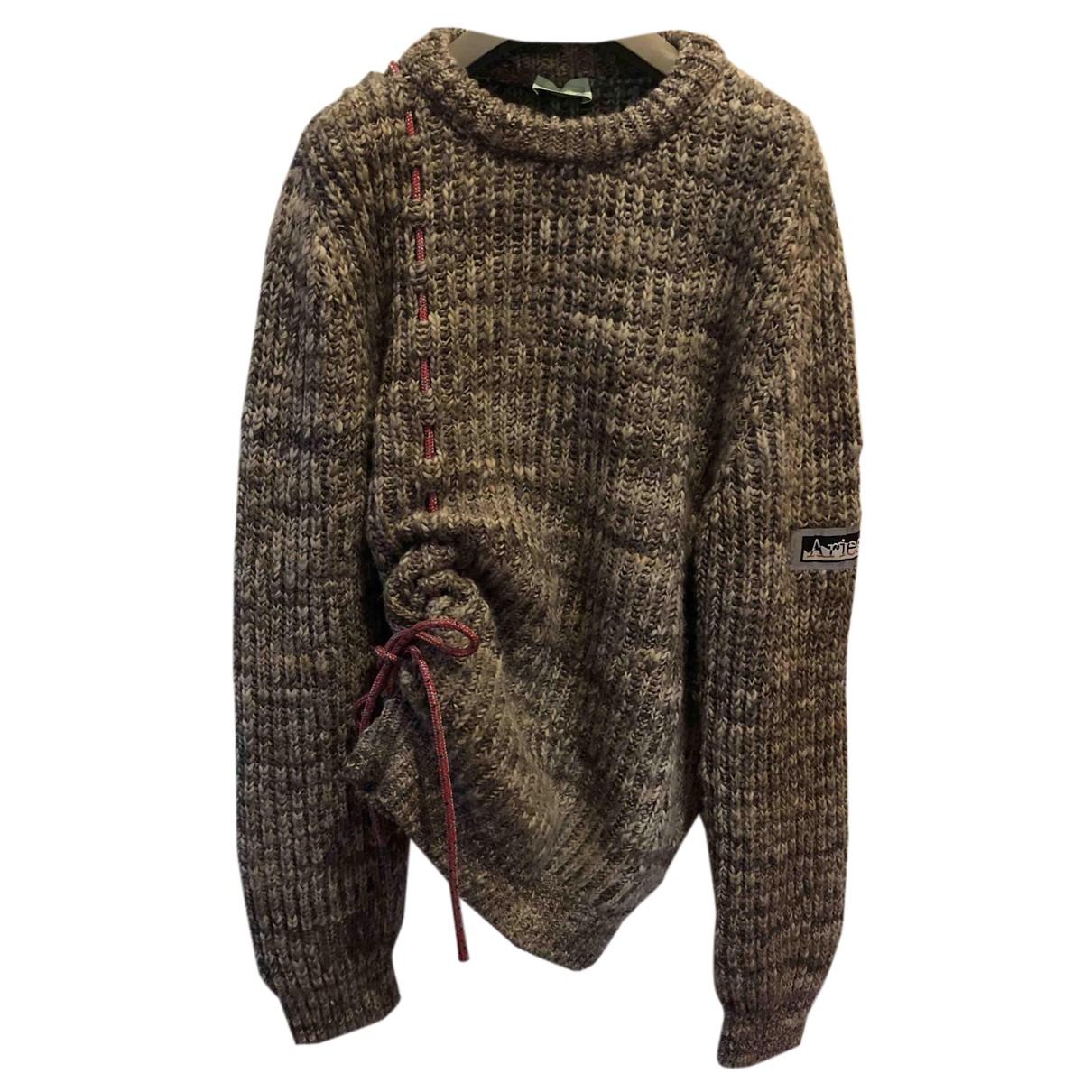 Aries \N Pullover.Westen.Sweatshirts  in  Ecru Wolle