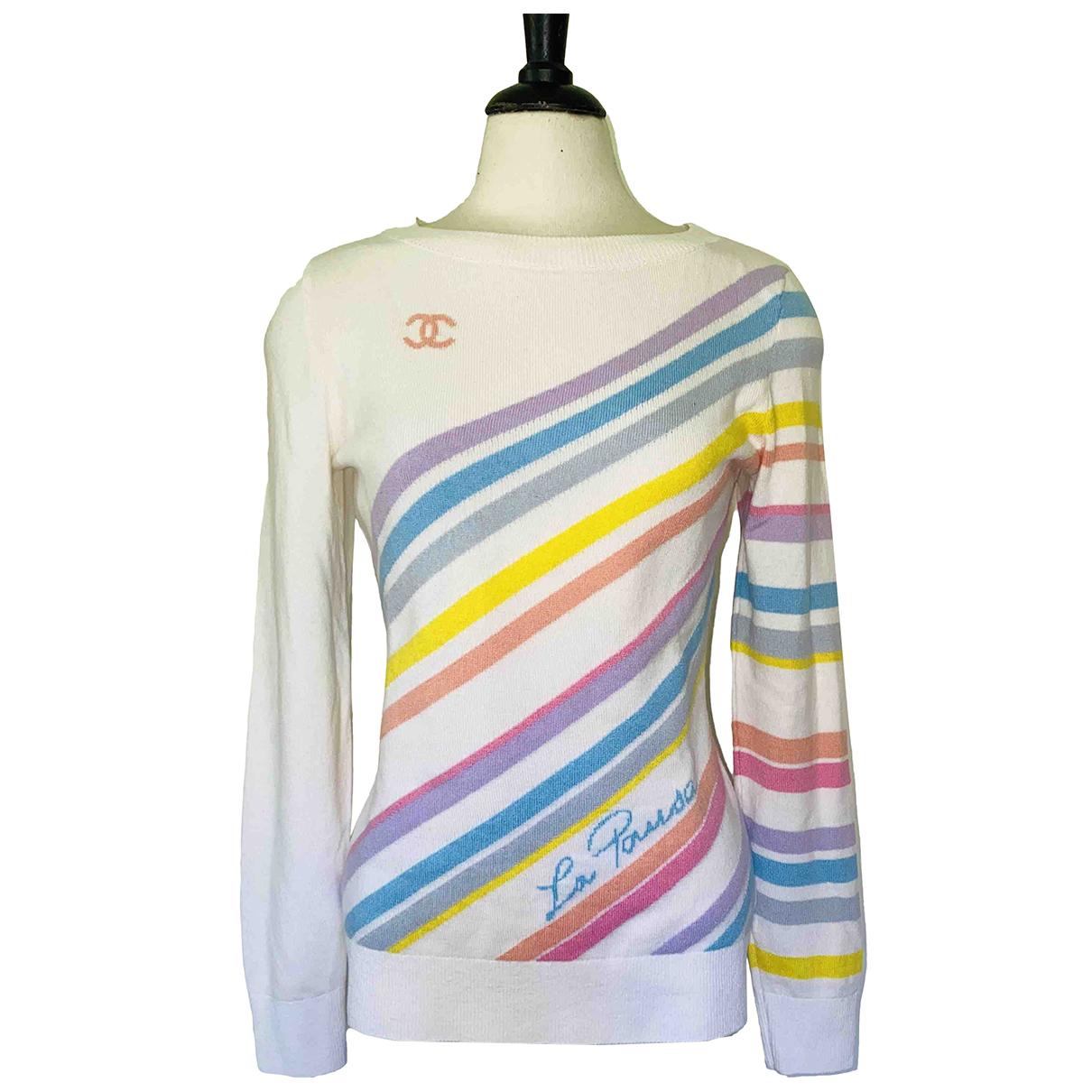 Chanel - Pull   pour femme en cachemire - multicolore
