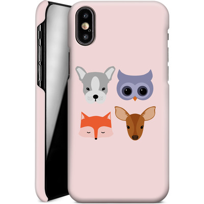 Apple iPhone X Smartphone Huelle - Animal Friends on Pink von caseable Designs