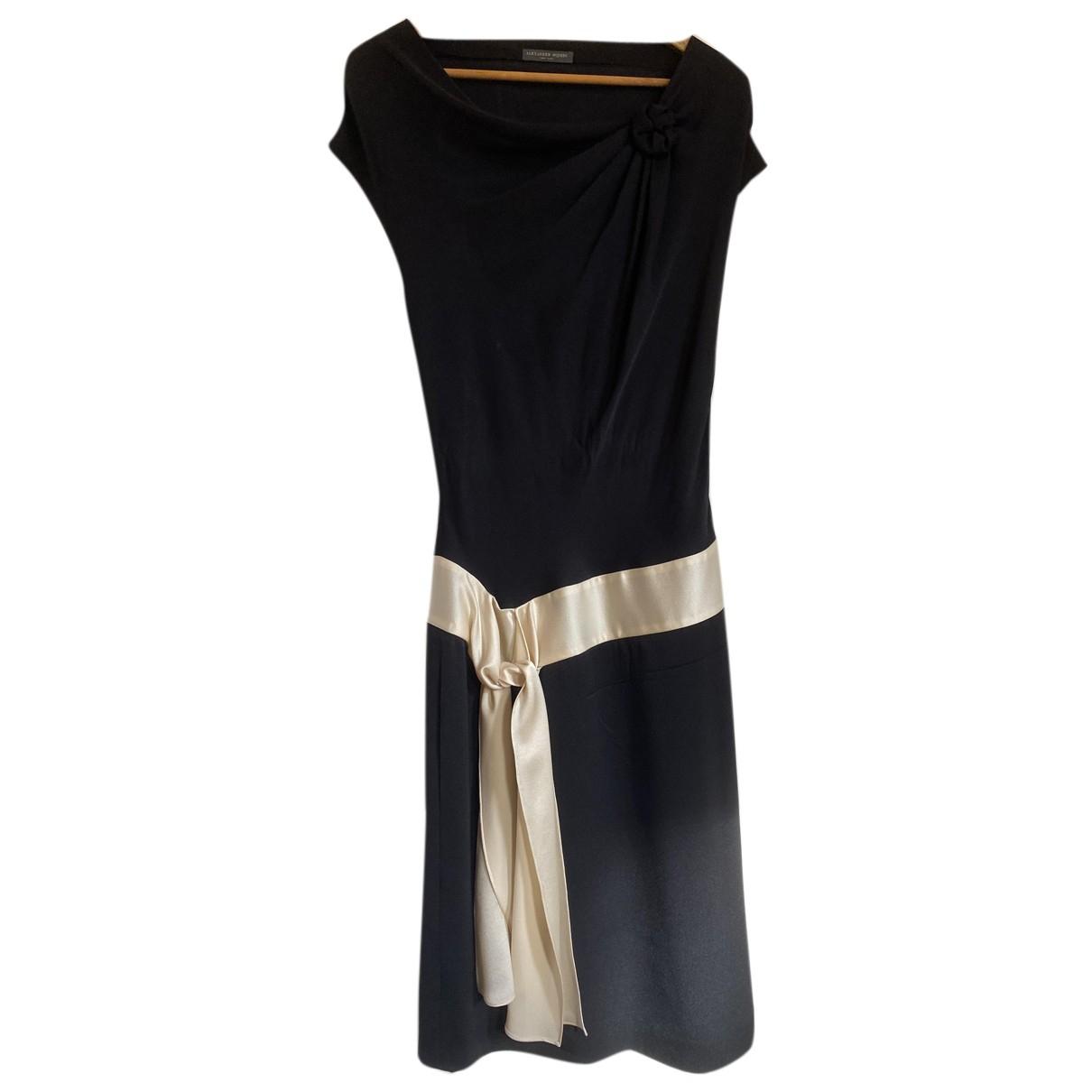 Alexander Mcqueen - Robe   pour femme en soie - noir