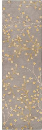 Athena Collection ATH5060-312 Runner 3' x 12' Rug  Hand Tufted with Wool Material in Grey and Neutral