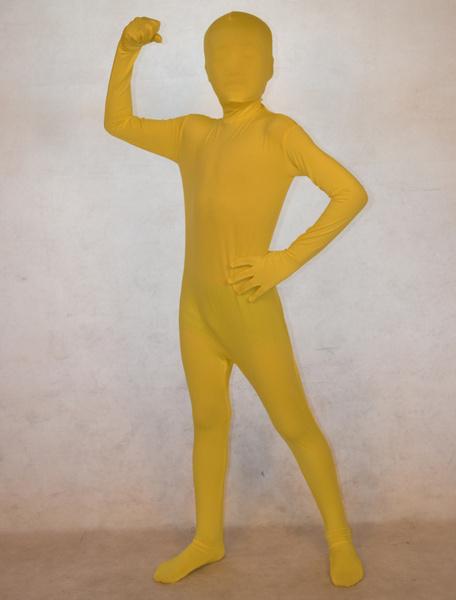 Milanoo Disfraz Halloween Zentai amarillo de elastano de marca LYCRA  Halloween