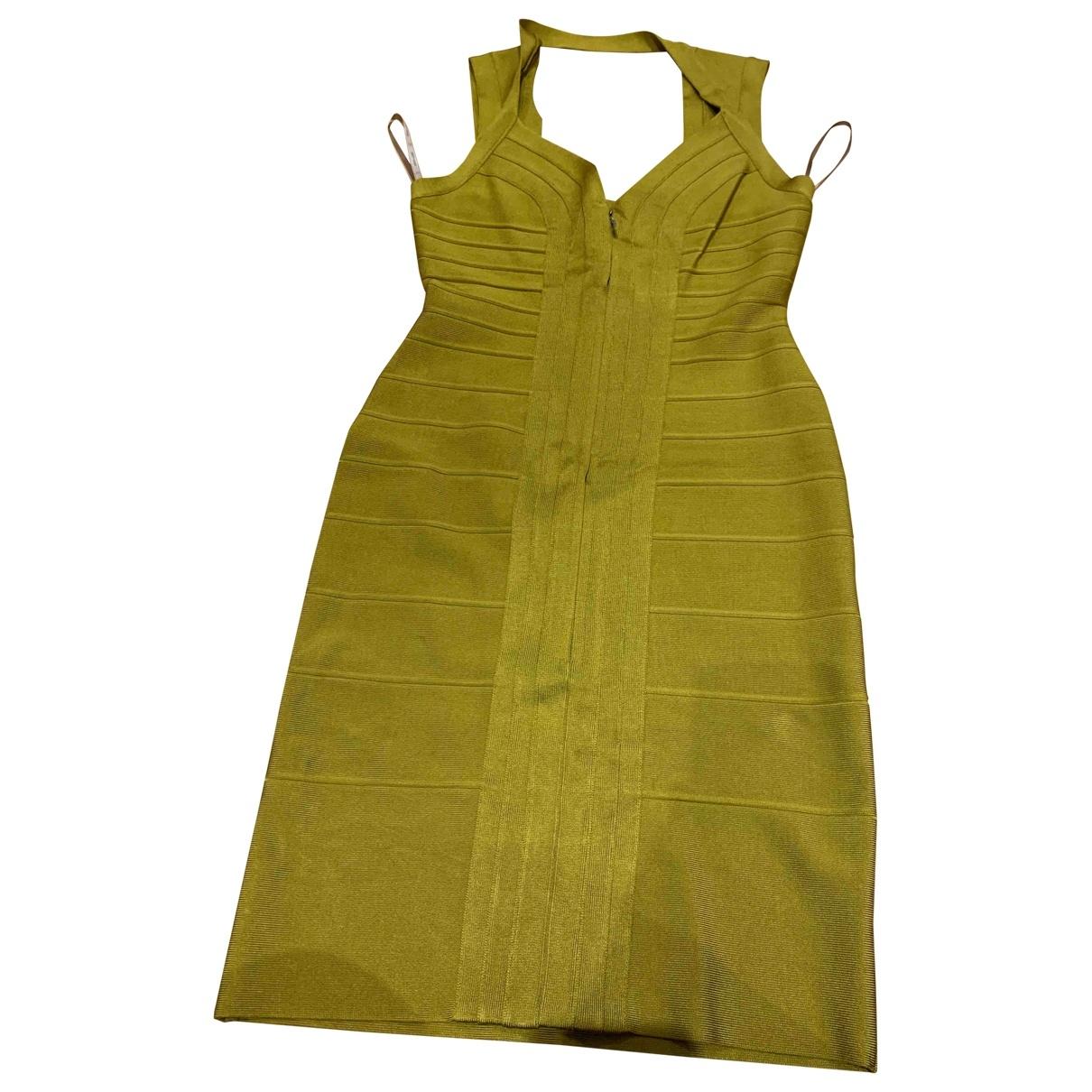 Herve Leger - Robe   pour femme en coton - elasthane - vert