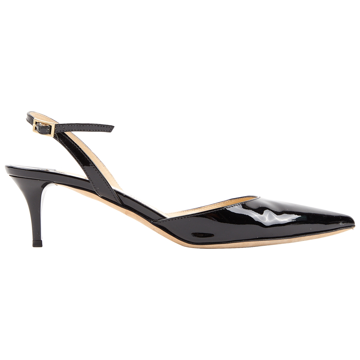 Jimmy Choo \N Black Patent leather Heels for Women 37.5 EU