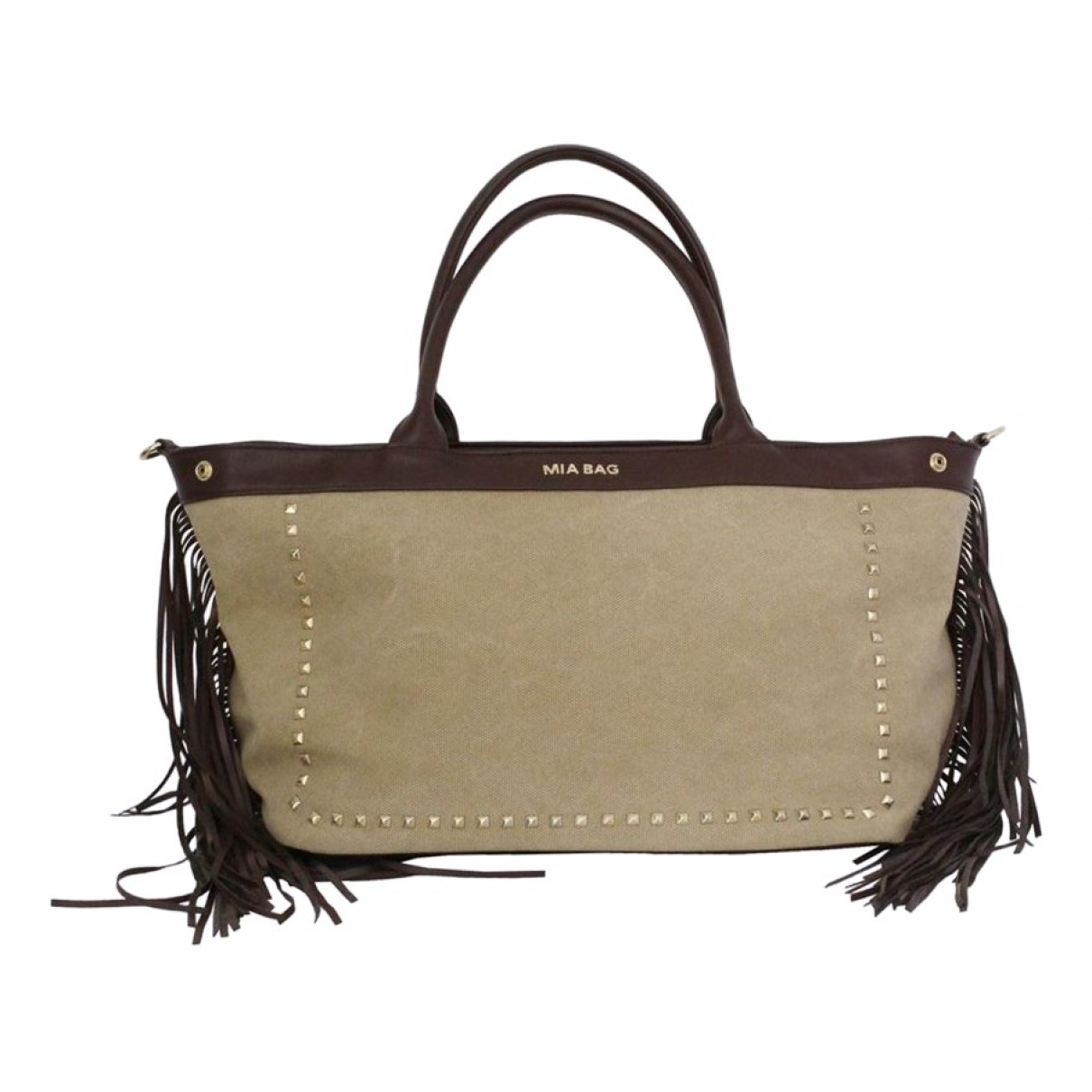 Non Signé / Unsigned N Beige Cloth handbag for Women N