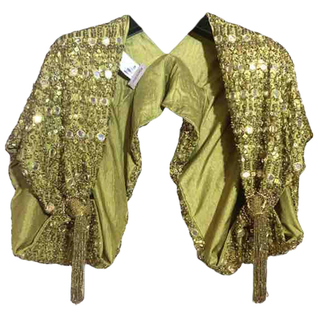 Romeo Gigli - Veste   pour femme en a paillettes - dore