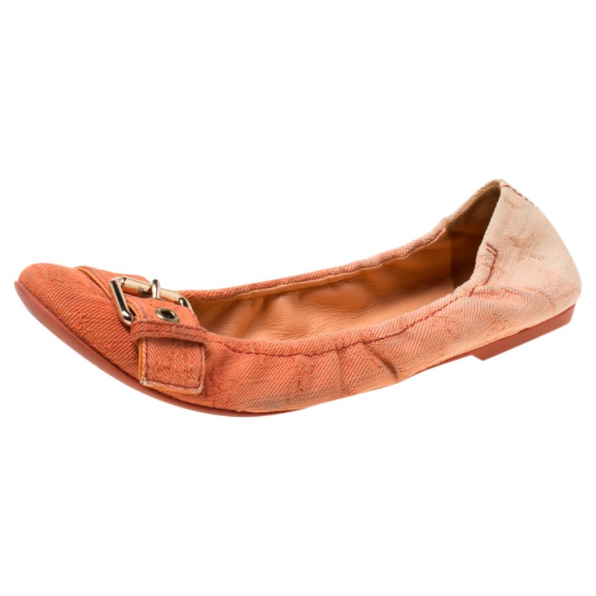 Louis Vuitton \N Orange Leather Ballet flats for Women 7 US
