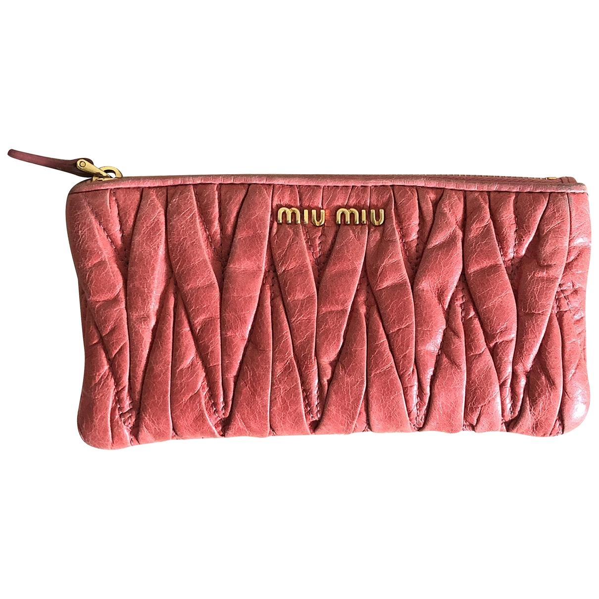 Miu Miu - Petite maroquinerie   pour femme en cuir - rose