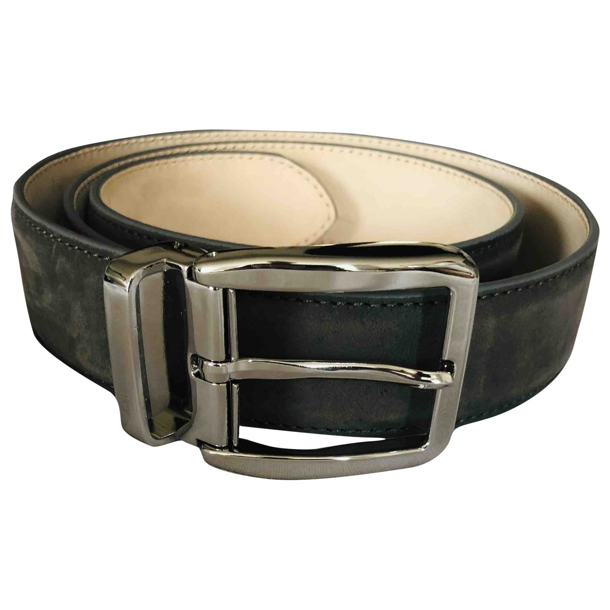 Russell & Bromley \N Grey Suede belt for Men 90 cm