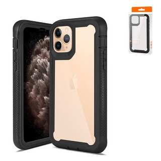 Reiko Bumper Case for APPLE IPHONE 11 PRO MAX - Black And Clear (Black And Clear)