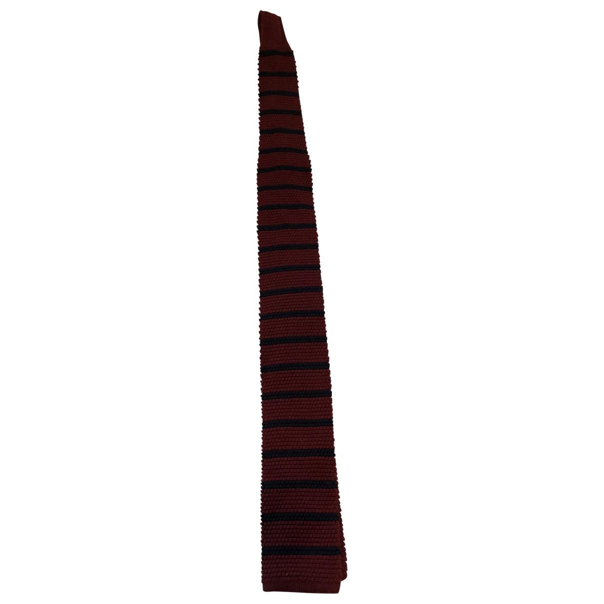 Bigi \N Krawatten in  Rot Wolle