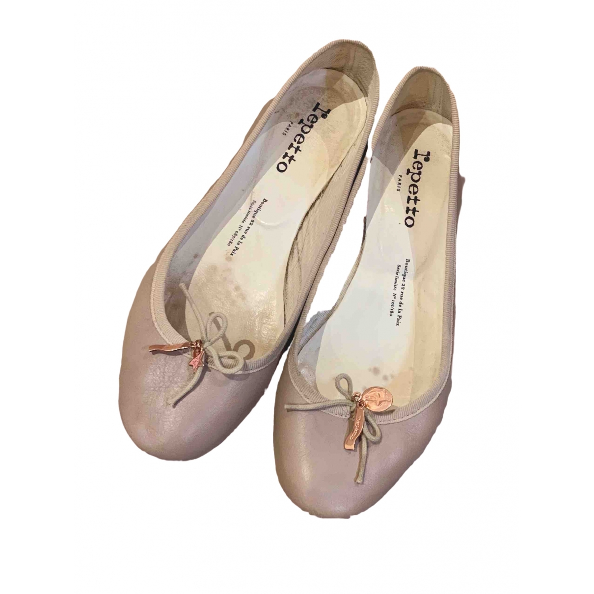 Repetto \N Ballerinas in  Beige Leder