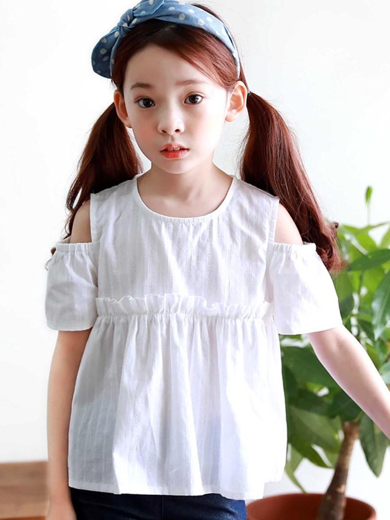 Ericdress Plain Short Sleeve Girls T-Shirt