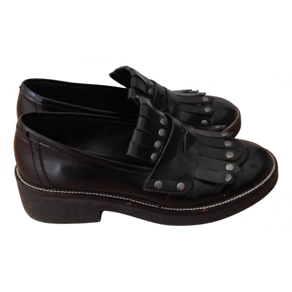 Ash - Derbies   pour femme en cuir - noir