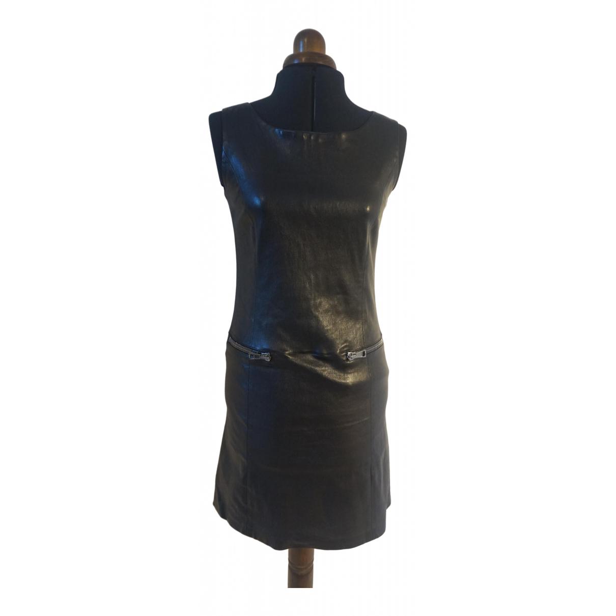 Ventcouvert \N Kleid in  Schwarz Leder
