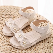 Toddler Girl Floral Appliques Sandals