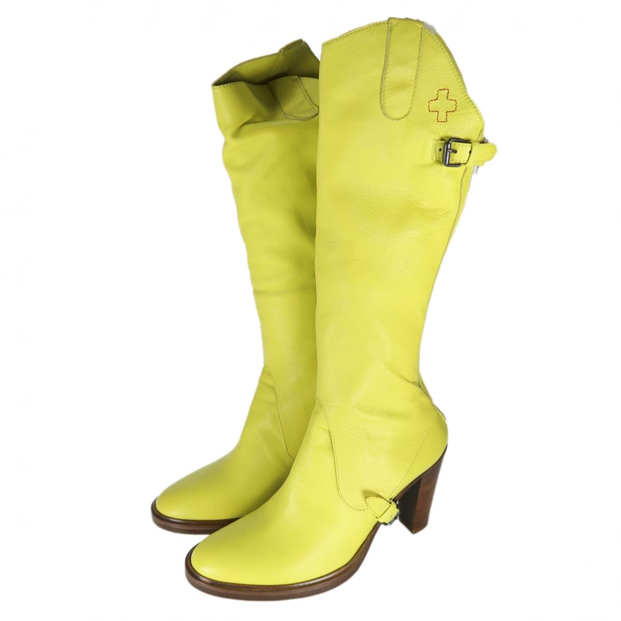 A.f.vandevorst - Bottes   pour femme en cuir - jaune