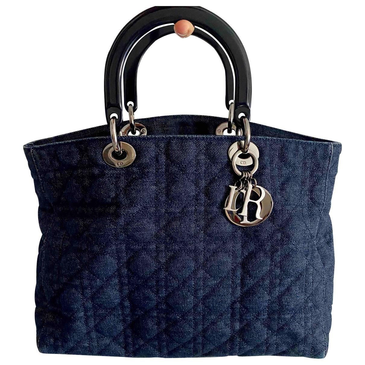 Christian Dior \N Handtasche in  Blau Denim - Jeans