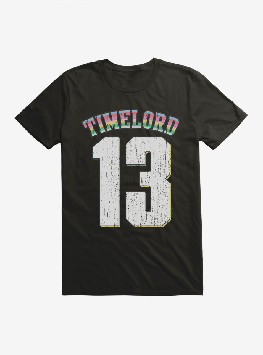 Doctor Who Thirteenth Doctor Time Lord In Training Rainbow T-Shirt