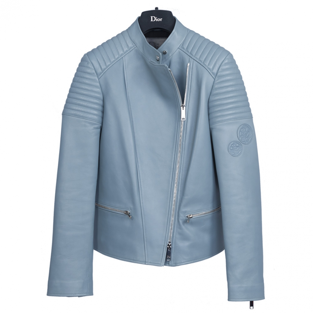 Dior \N Lederjacke in  Blau Leder