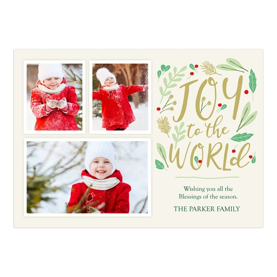 Gartner Studios® Personalized Natural Joy Flat Holiday Photo Card | Michaels®