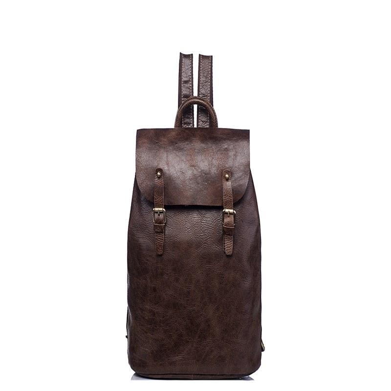 Ericdress Plain Leather Backpacks