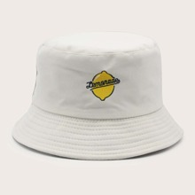 Fruit Embroidery Bucket Hat