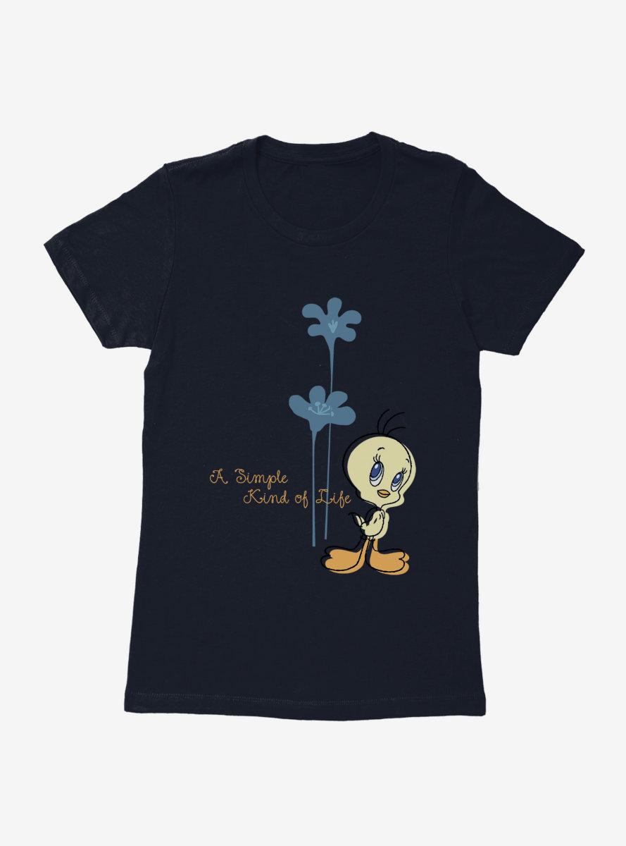 Looney Tunes Summer Fun Simple Life Flowers Womens T-Shirt