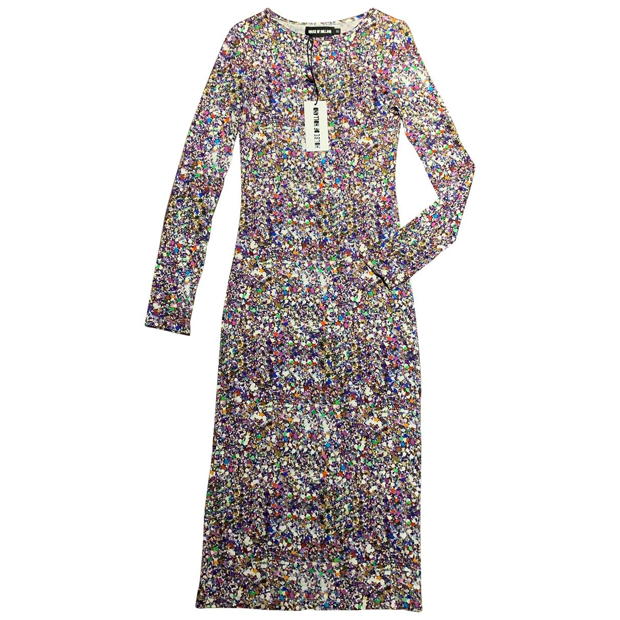 House Of Holland - Robe   pour femme en coton - elasthane - multicolore