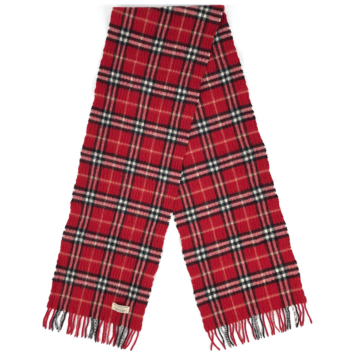 Burberry \N Red Cashmere scarf for Women \N