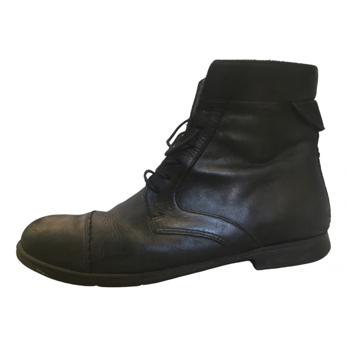 Camper \N Black Leather Ankle boots for Women 40 EU