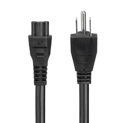 6Pi 18AWG mise à la terre NEMA 5-15P à IEC 60320 C5 Câble d'alimentation à 3 broches - PrimeCables®