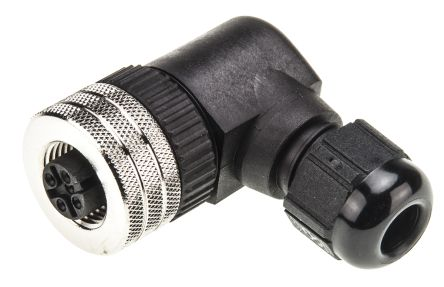 Brad Connector, 4 contacts Cable Mount M12, Screw Down