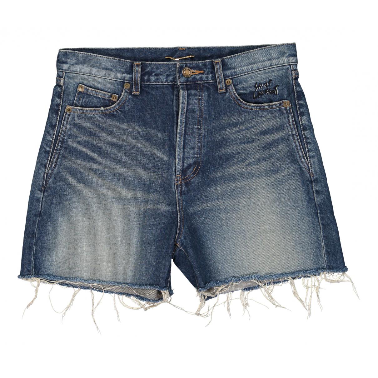 Saint Laurent \N Shorts in  Blau Denim - Jeans