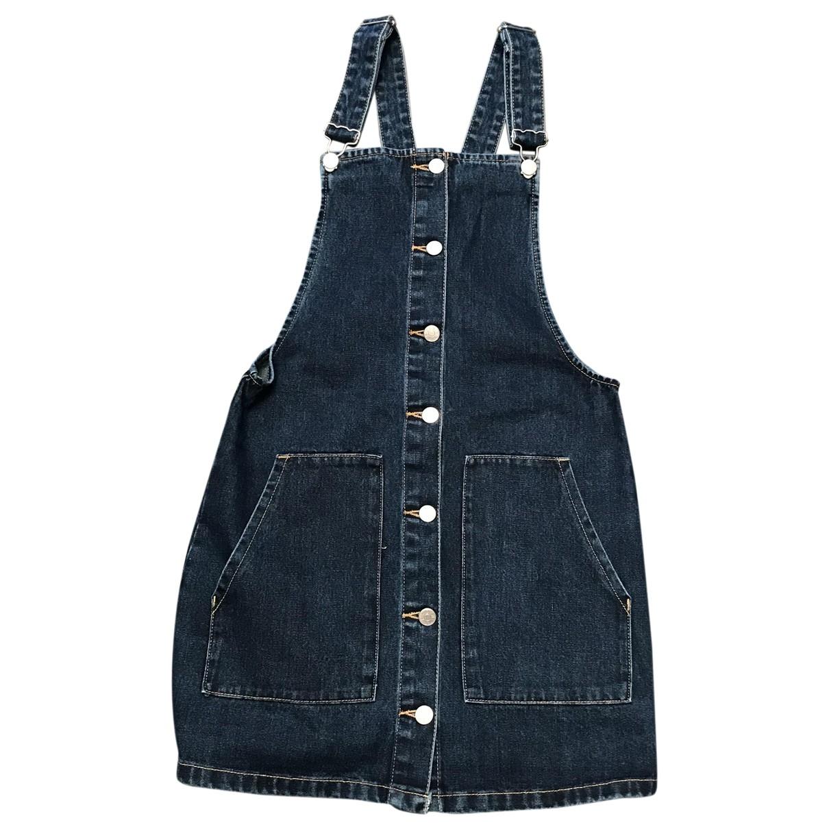 Zara \N Kleid in  Blau Baumwolle - Elasthan