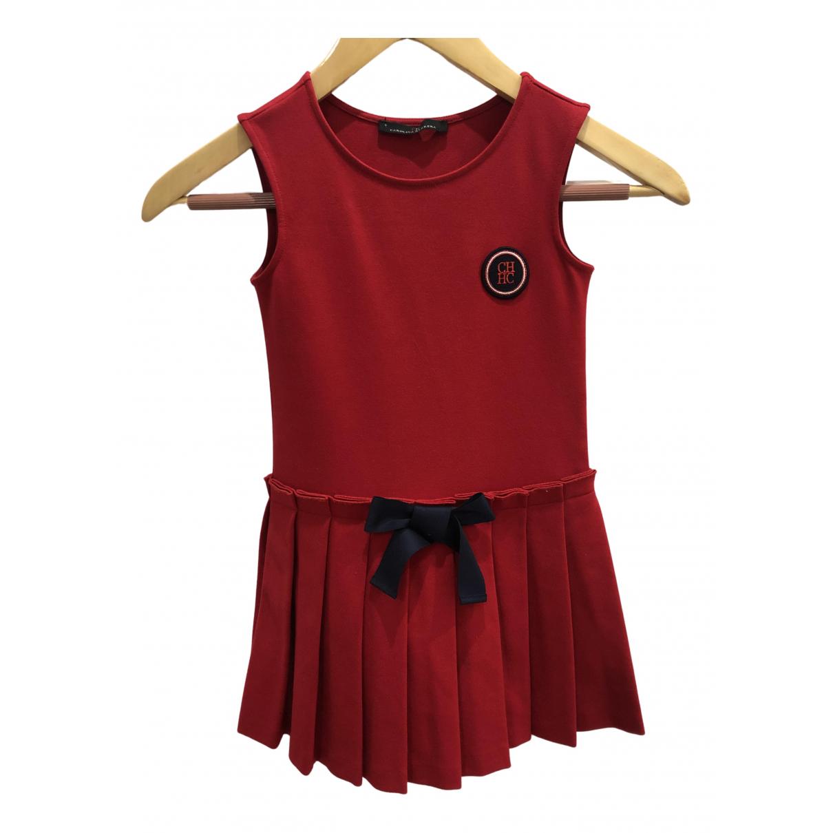 Carolina Herrera \N Kleid in  Rot Baumwolle - Elasthan