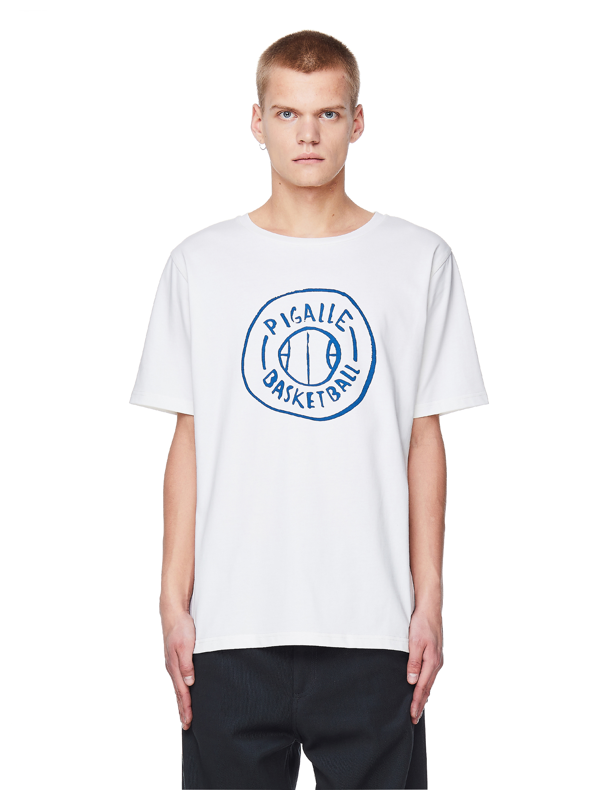 Pigalle White Cotton Basketball Printed T-Shirt