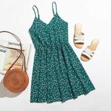 Cami Kleid mit Bluemchen Muster