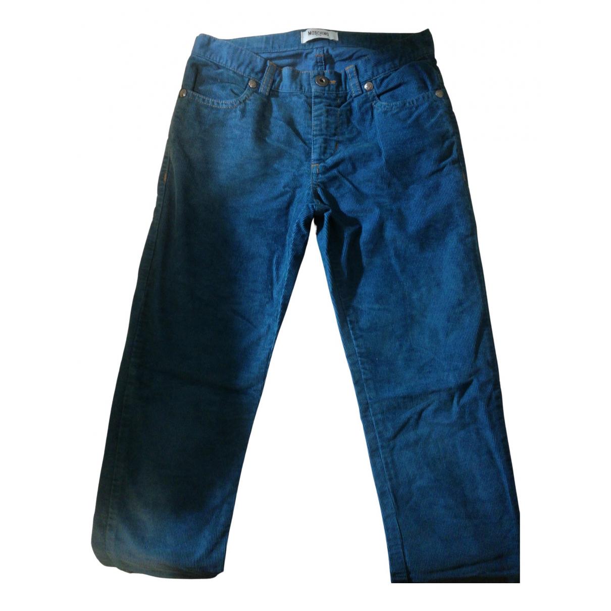 Moschino - Pantalon   pour enfant en velours - vert