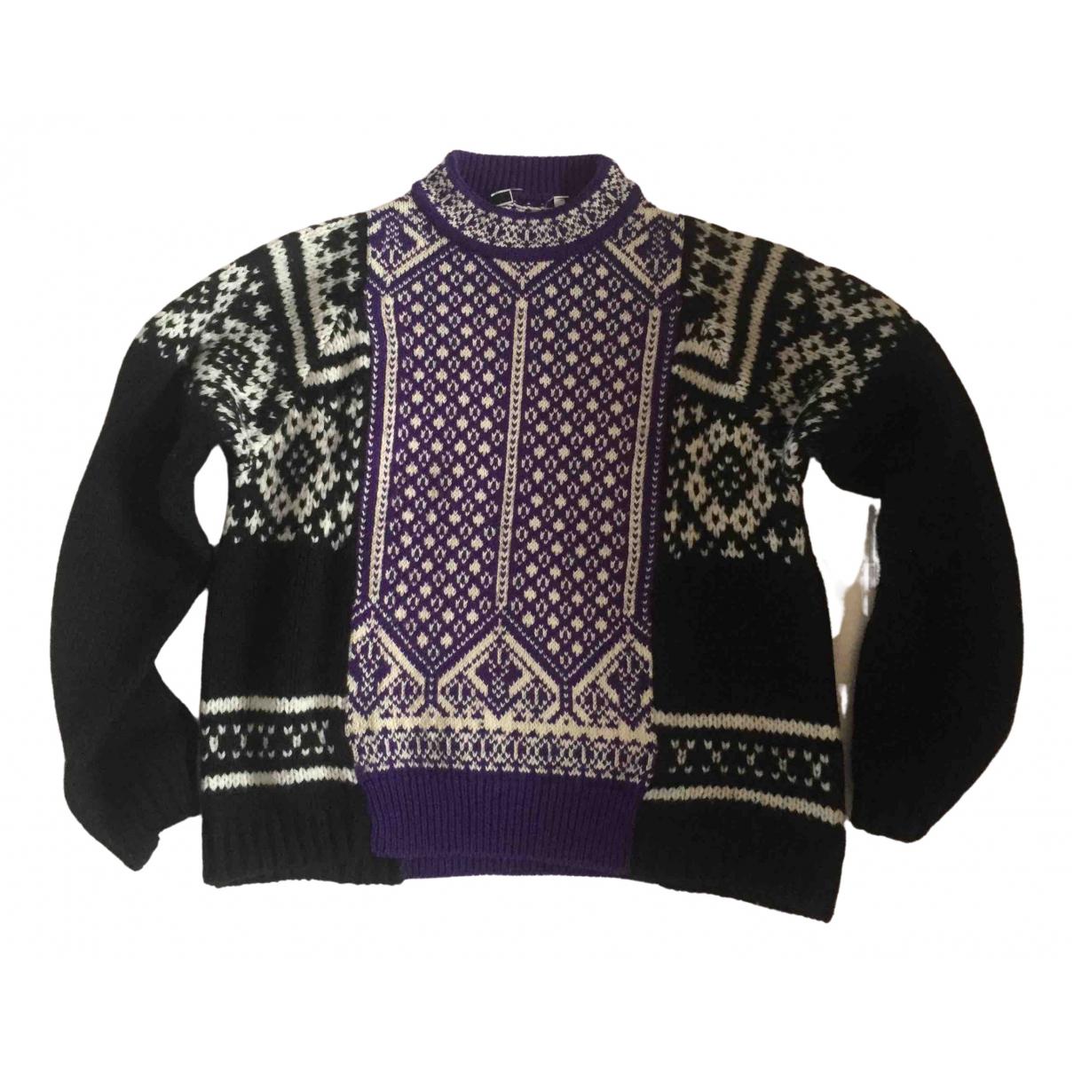 - Pull Norvegien pour femme en laine - multicolore