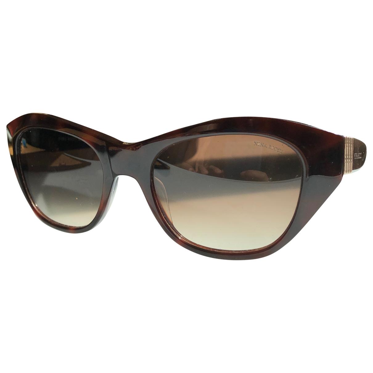 Nina Ricci \N Sonnenbrillen in  Braun Kunststoff