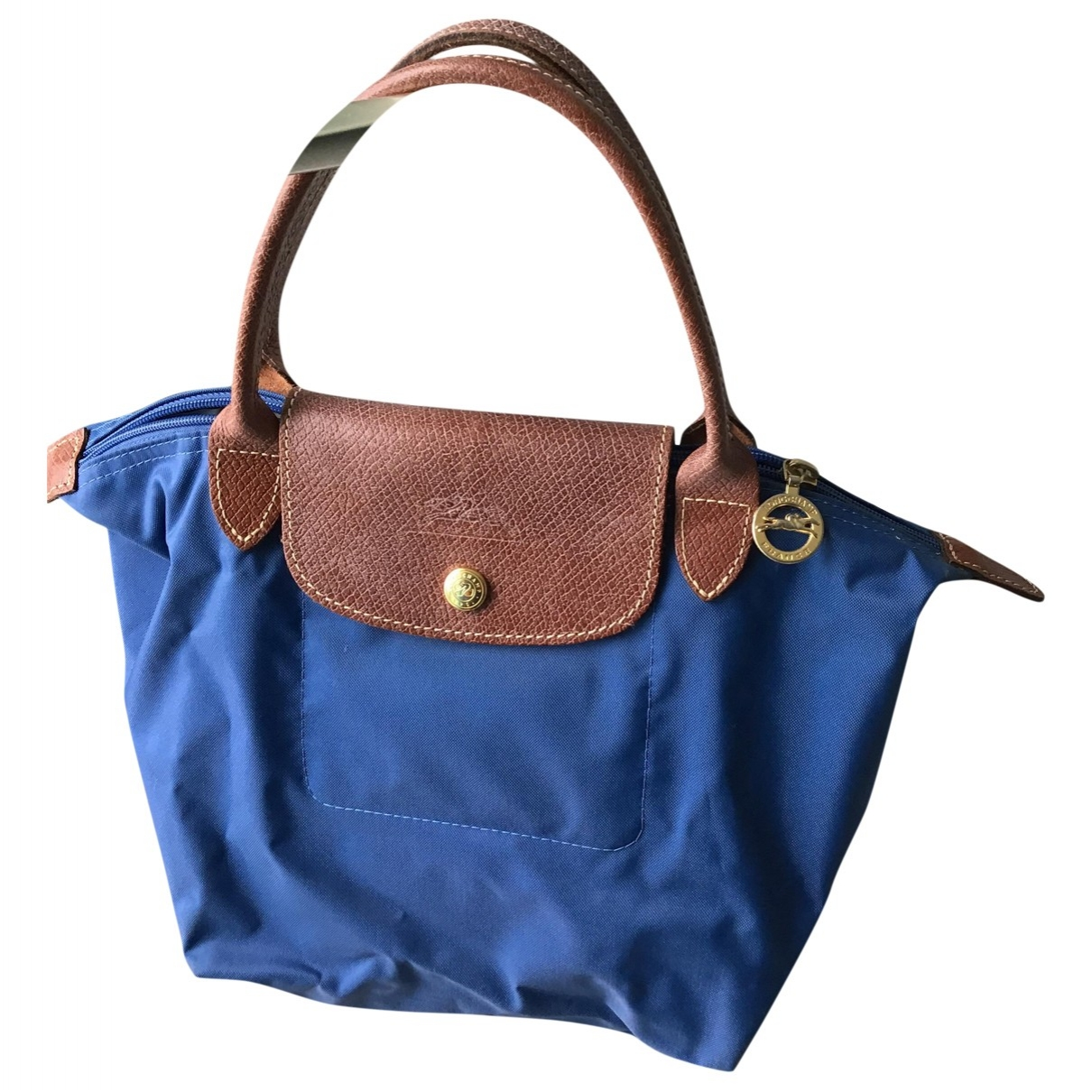 Longchamp Pliage  Blue handbag for Women \N