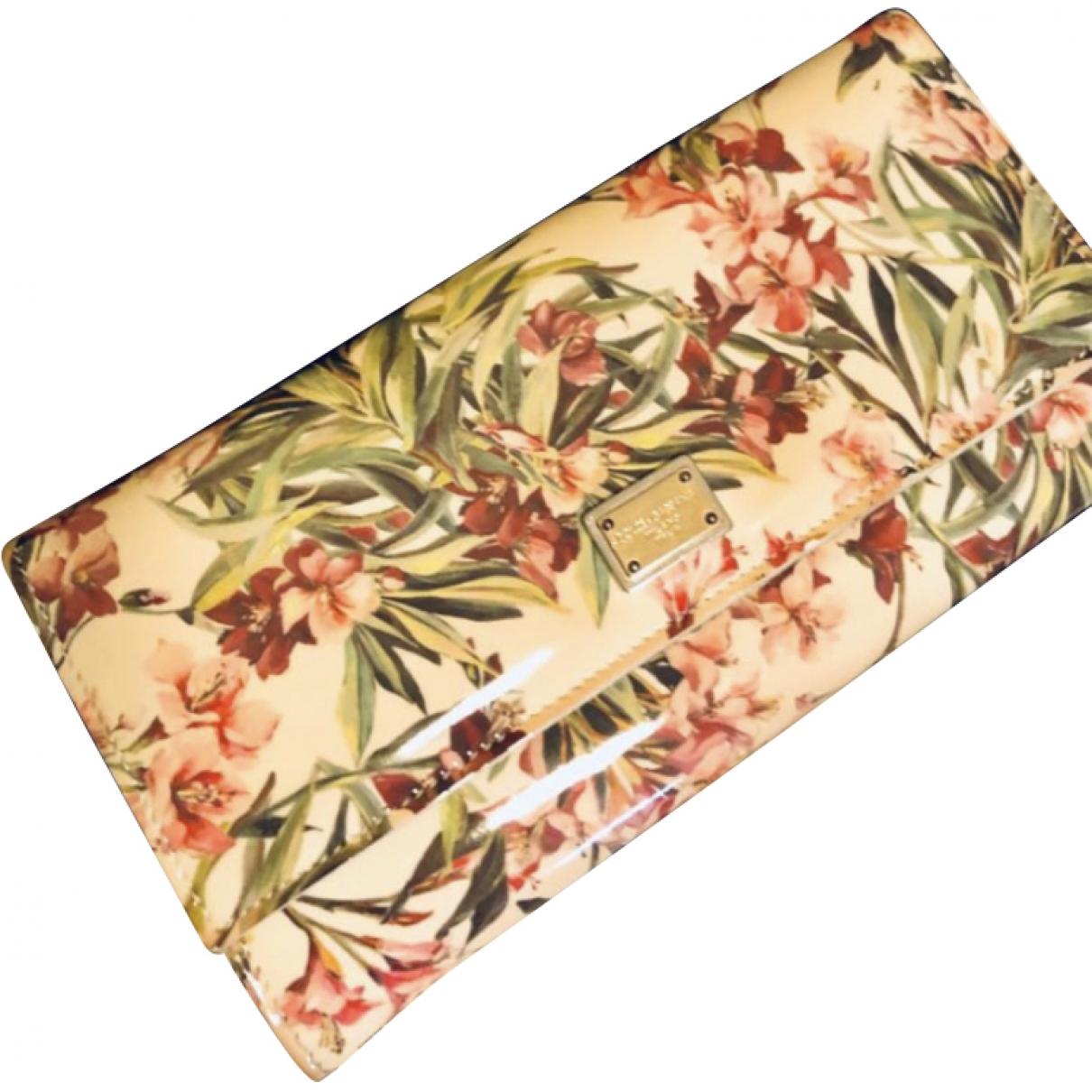 Dolce & Gabbana - Portefeuille   pour femme en cuir - multicolore
